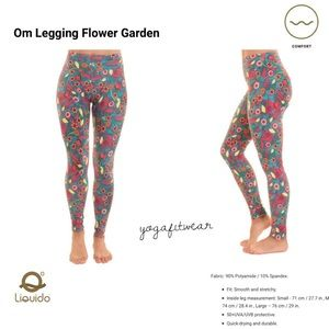 Liquido Active Garden Flower Leggings